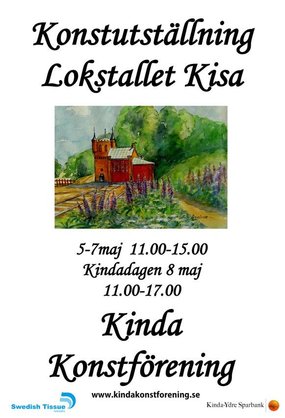 Välkomna till konstutställning Lokstallet Kisa